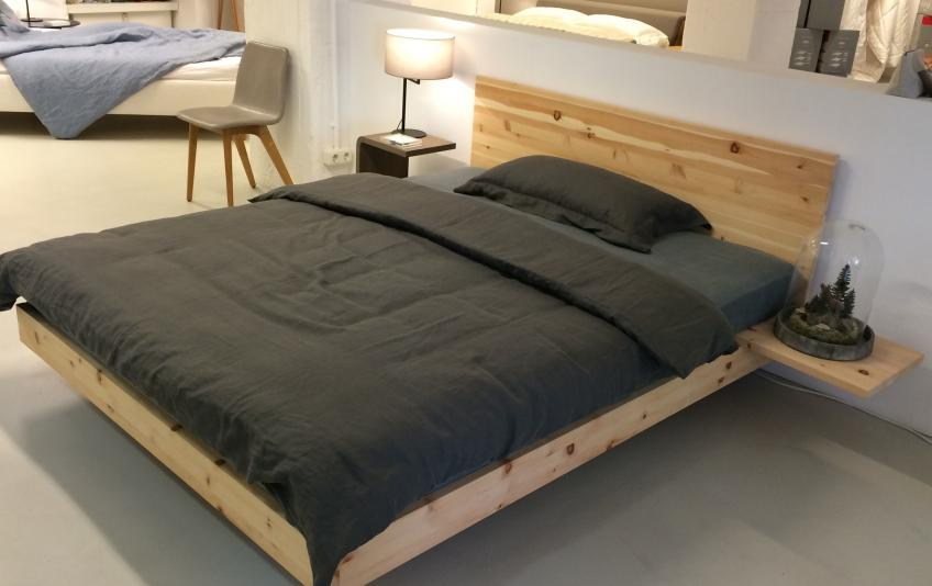 bettundraum h sler nest store hamburg bett nido zirbe. Black Bedroom Furniture Sets. Home Design Ideas